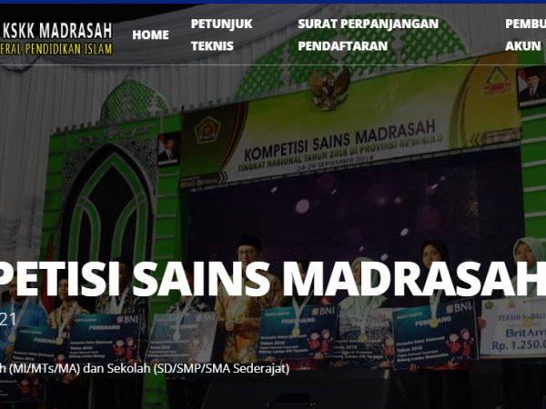 Juknis KSM (Kompetisi Sains Madrasah) Tahun 2021